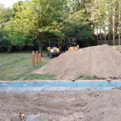 1. odstranění pískoviště