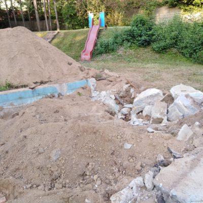 2. odstranění pískoviště